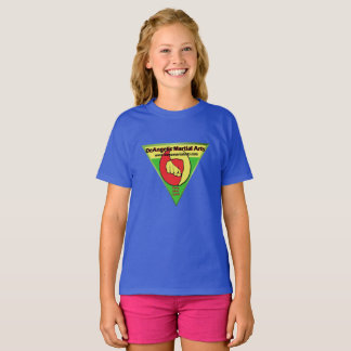 DeAngelis Martial Arts Girls Blue Shirt