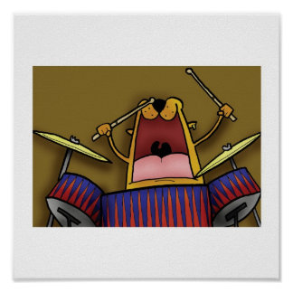 Deano plays the Drums Poster