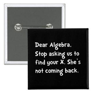 Dear Algebra 2 Inch Square Button