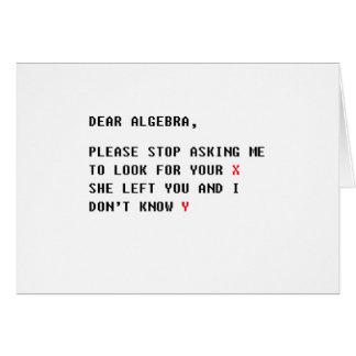 dear algebra card