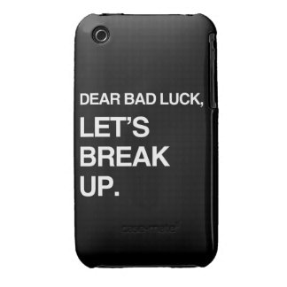 DEAR BAD LUCK, LET'S BREAK UP iPhone 3 Case-Mate CASES