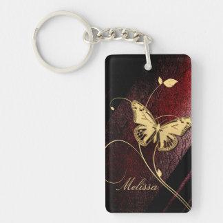 Dear Butterfly ID199 Single-Sided Rectangular Acrylic Keychain