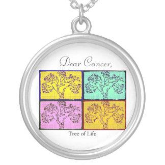 Dear Cancer Round Pendant Necklace