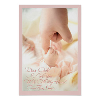 Dear Child, I love you with all my heart Poster