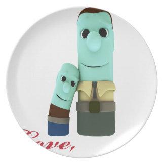 Dear Dad Plate
