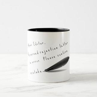 Dear Editor, inspiration for writers Two-Tone Coffee Mug