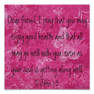 Dear Friend I pray bible verse Poster