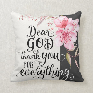 "Dear God 16"" x 16"" Pillow"