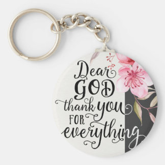 Dear God Basic Button Keychain