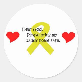 Dear God Classic Round Sticker