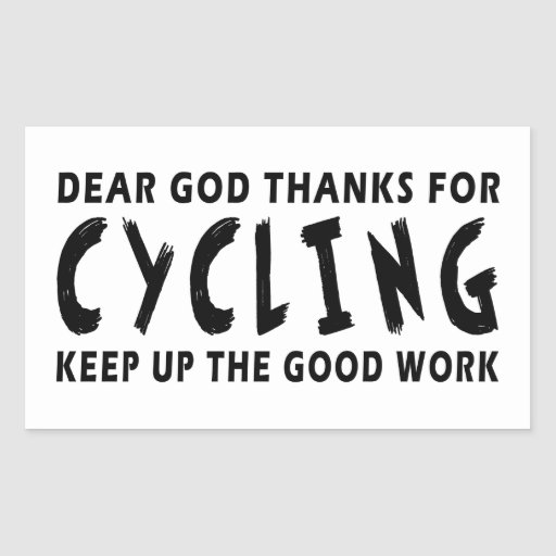 rectangle cycling stickers