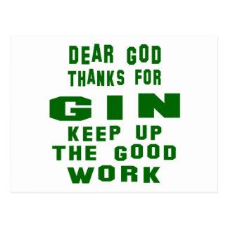 Dear god thanks for Gin. Postcard