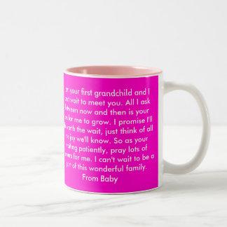Dear Grandma, First GrandChild Two-Tone Coffee Mug