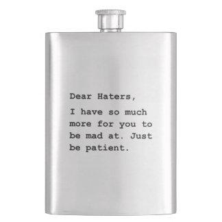 Dear Haters Hip Flask