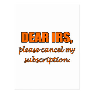 Dear IRS Postcard
