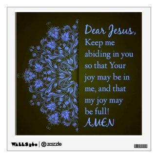 Dear Jesus Prayer wall decal