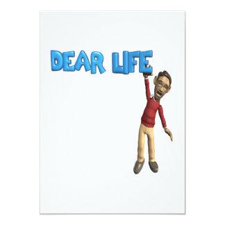 "Dear Life 5"" X 7"" Invitation Card"