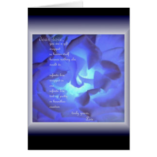 dear love - poetry & art Everyday Blank Note Card