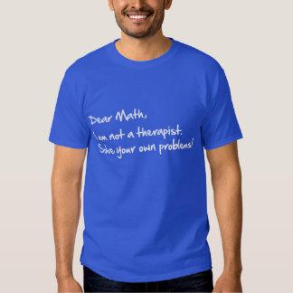 Dear Math, handwritten Tee Shirts
