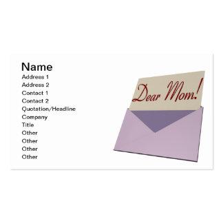 Dear Mom Business Card