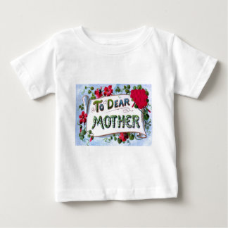 Dear Mother Spring Flowers Mother's Day Card Baby T-Shirt