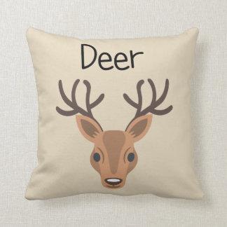 Dear Oh Deer Throw Pillow