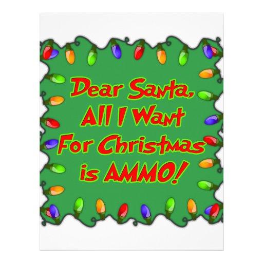 dear santa ammo christmas wish letter letterhead template