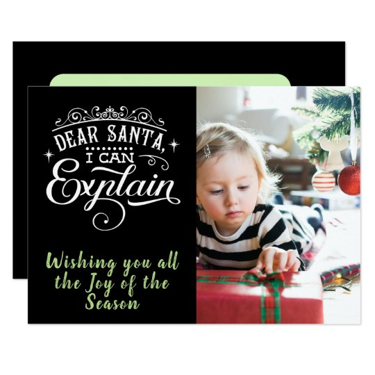 Dear Santa/Christmas/2-Sided Card/Black Card