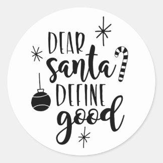 Dear santa, Christmas sticker