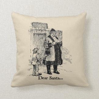 Dear Santa Christmas Throw Pillow
