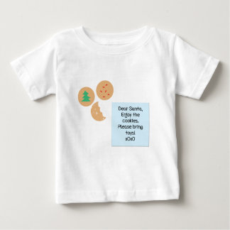 Dear Santa Cookies Please Bring Toys Baby T-Shirt