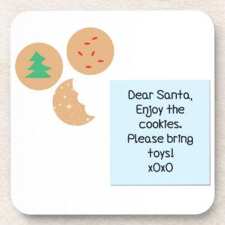 Dear Santa Cookies Please Bring Toys Drink Coaster