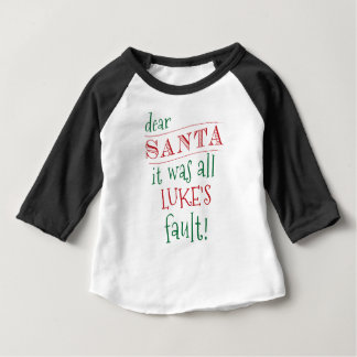 Dear Santa Custom Shirt, add names and customize Baby T-Shirt