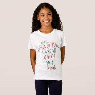 Dear Santa Custom Shirt, add names and customize T-Shirt