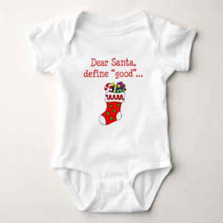 Dear Santa Define Good Baby Bodysuit