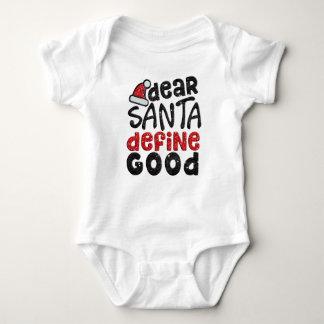 Dear Santa Define Good Baby Outfit Baby Bodysuit