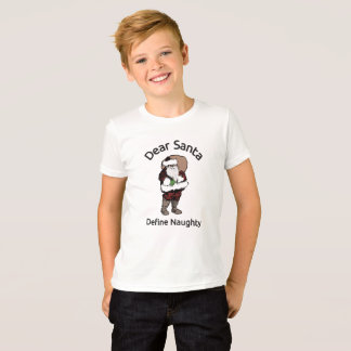Dear Santa Define Naughty, Funny Christmas T-Shirt