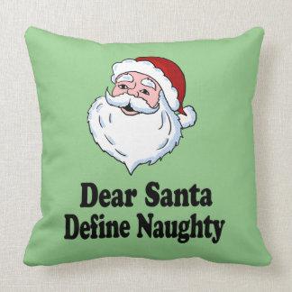 Naughty Christmas Pillows - Naughty Christmas Throw ...