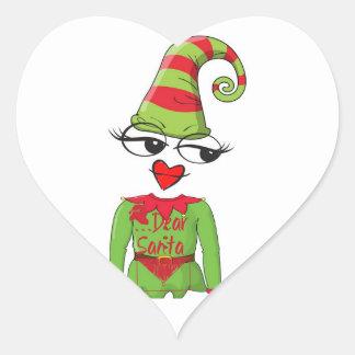 Dear Santa elf Christmas sticker