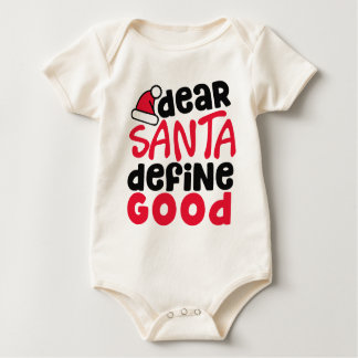 Dear Santa Funny Christmas | Jersey Bodysuit