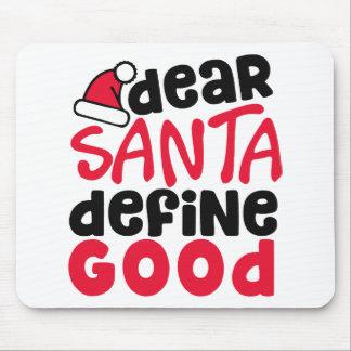 Dear Santa Funny Christmas | Mousepad