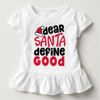 Dear Santa Funny Christmas | Ruffle Tee