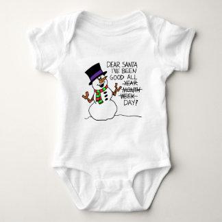 Dear Santa Good All Day Baby Bodysuit