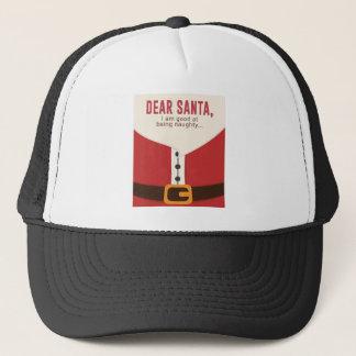 Dear Santa Good Bad Nice Naughty List Funny Design Trucker Hat