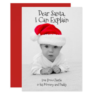 Dear Santa I Can Explain Christmas Personalized Card