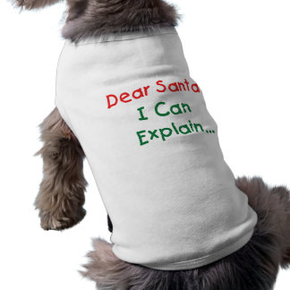 Dear Santa, I Can Explain - Funny Letter to Santa Shirt