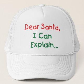 Dear Santa, I Can Explain - Funny Letter to Santa Trucker Hat