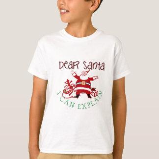 Dear Santa I Can Explain Kids Tee