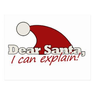 Dear Santa I can explain Postcard
