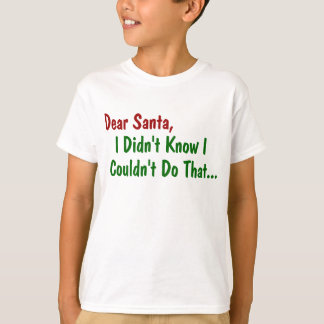 Dear Santa, I Didn't Know I Couldn't Do That T-Shirt